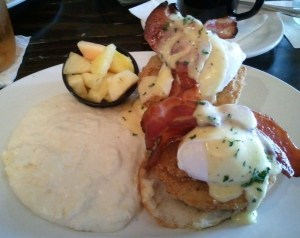 Fried Green Tomato Eggs Benedict from Restaurant Tyler