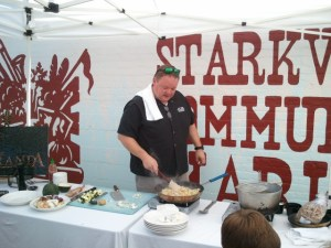 Chef Jay Yates from The Veranda Slinging Duck Hash