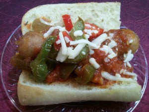 Olive Garden should call this the Sausage Supreme Sandwich