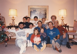 Mann-Reed-Keys Family Holiday Photo, Circa 1986