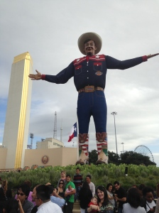 "Big Tex says, ""It's about time you got here!"""