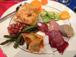 Charcuterie and pickles...and a biscuit!