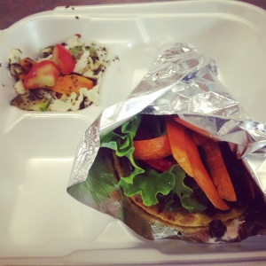 Sameerah's Black Bean Taco and Grilled Veggies